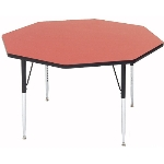 Correll A48-OCT 35 Activity Table w/ 1.25-in High Pressure Top, 48-in Octagonal, Red
