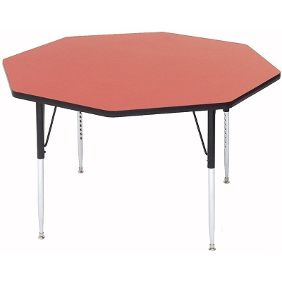 "Correll A48-OCT 35 Activity Table w/ 1.25"" High Pressure Top, 48"" Octagonal, Red"