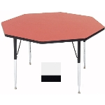 Correll A48-OCT 36 Activity Table w/ 1.25-in High Pressure Top, 48-in Octagonal, White