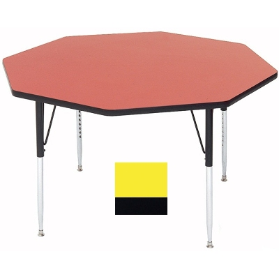 Correll A48-OCT 38 Activity Table w/ 1.25-in High Pressure Top, 48-in Octagonal, Yellow