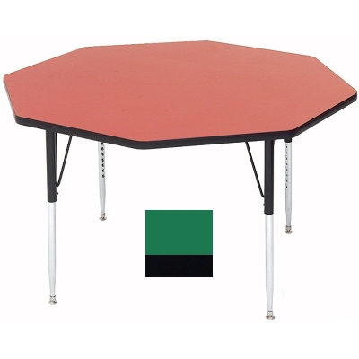 Correll A48-OCT 39 Activity Table w/ 1.25-in High Pressure Top, 48-in Octagonal, Green