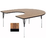 "Correll A6066-HOR 02 Activity Table w/ 1.25"" High Pressure Top, 60 x 66"", Oak"