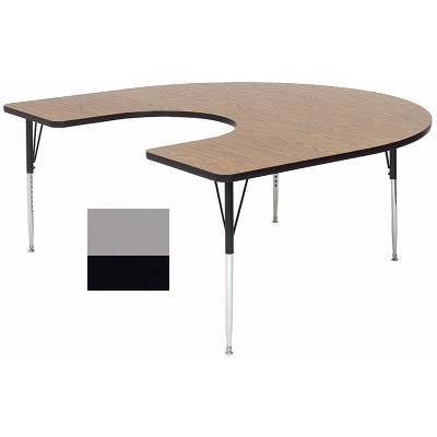 Correll A6066-HOR 13 Activity Table w/ 1.25-in High Pressure Top, 60 x 66-in, Dove Gray