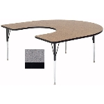Correll A6066-HOR15 Activity Table w/ 1.25-in High Pressure Top, 60 x 66-in, Gray Granite
