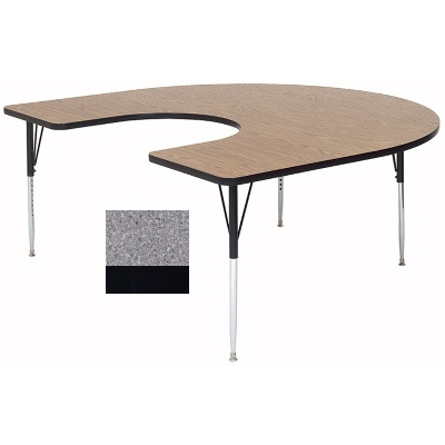 "Correll A6066-HOR15 Activity Table w/ 1.25"" High Pressure Top, 60 x 66"", Gray Granite"