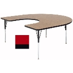 "Correll A6066-HOR 35 Activity Table w/ 1.25"" High Pressure Top, 60 x 66"", Red"