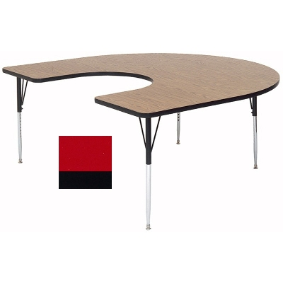 Correll A6066-HOR 35 Activity Table w/ 1.25-in High Pressure Top, 60 x 66-in, Red