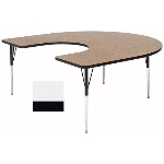 "Correll A6066-HOR 36 Activity Table w/ 1.25"" High Pressure Top, 60 x 66"", White"