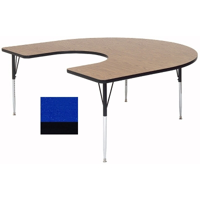 "Correll A6066-HOR 37 Activity Table w/ 1.25"" High Pressure Top, 60 x 66"", Blue"