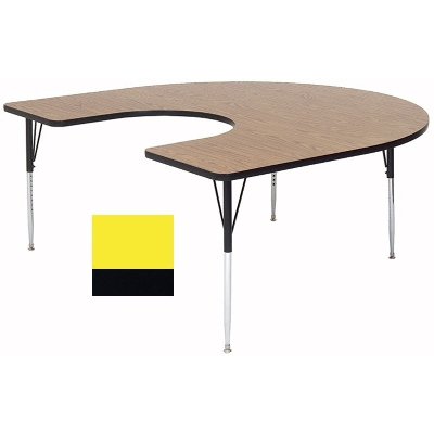 Correll A6066-HOR 38 Activity Table w/ 1.25-in High Pressure Top, 60 x 66-in, Yellow