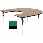 "Correll A6066-HOR 39 Activity Table w/ 1.25"" High Pressure Top, 60 x 66"", Green"
