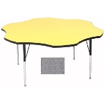 Correll A60-FLR15 Activity Table w/ 1.25-in High Pressure Top, 48-in Flower Shape, Gray Gr