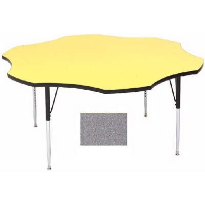 "Correll A60-FLR15 Activity Table w/ 1.25"" High Pressure Top, 48"" Flower Shape, Gray Granite"