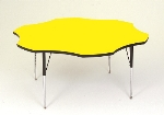 Correll A60-FLR 38 Activity Table w/ 1.25-in High Pressure Top, 48-in Flower Shape, Yellow
