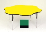 "Correll A60-FLR 39 Activity Table w/ 1.25"" High Pressure Top, 48"" Flower Shape, Green"