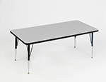 "Correll AM2448-REC 15 Rectangular Activity Table w/ Melamine Top, 28x48"", Gray Granite"