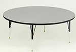 "Correll AM60-RND 15 60"" Round Activity Table w/ Melamine Top, Gray Granite"