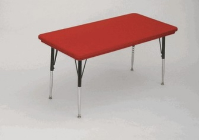Correll AR3060-REC 25 Free-Standing Activity Table, Adjusts to 30-in, 30 x 60-in, Red