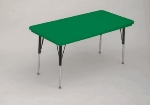 "Correll AR3072-REC 29 Free-Standing Activity Table, Adjusts to 30"", 30 x 72"", Green"