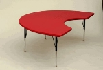 Correll AR4872-KID 25 Free-Standing Activity Table, Adjust to 30-in, Kidney Shape, 48 x 72-in, Red