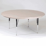 "Correll AR60-RND 15SL 60"" Round Free-Standing Activity Table, Adjusts to 25"", Gray Granite"