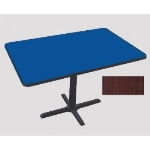 "Correll BCT3042 21 30 x 42"" Bar Cafe Table w/ 1.25"" Pressure Top, 29"" H, Cherry/Black"