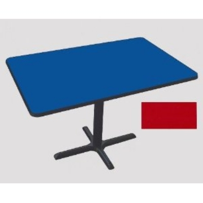 "Correll BCT3048 25 30 x 48"" Bar Cafe Table w/ 1.25"" Pressure Top, 29"" H, Red/Black"