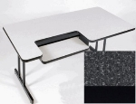 "Correll BL3072 07 Bi-Level Work Station w/ 1.25"" Top, 30 x 72"", Black Granite/Black"