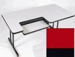 "Correll BL3072 25 Bi-Level Work Station w/ 1.25"" High Pressure Top, 30 x 72"", Red/Black"