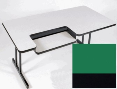 "Correll BL3048 29 Bi-Level Work Station w/ 1.25"" High Pressure Top, 30 x 48"", Green/Black"