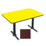 "Correll BTT3048 21 30 x 48"" Bar Cafe Table w/ 1.25"" Pressure Top, T-Base, 29"" H, Cherry/Black"