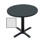 "Correll BXT36R 15 36"" Round Bar Cafe Table w/ 1.25"" Pressure Top, 29"" H, Gray Granite/Black"