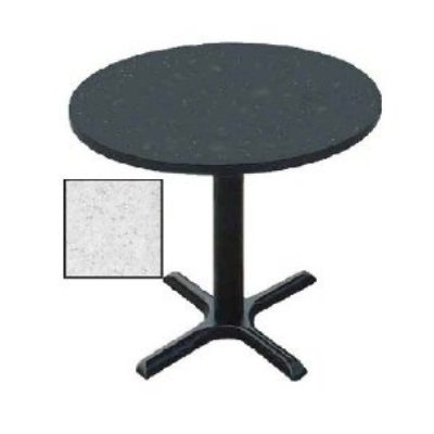 "Correll BXT48R 15 48"" Round Bar Cafe Table w/ 1.25"" Pressure Top, 29"" H, Gray Granite/Black"