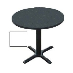 Correll BXT24R 36 24-in Round Bar Cafe Table w/ 1.25-in Pressure Top, 29-in H, White/Black