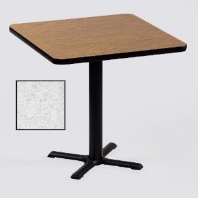 "Correll BXT30S 15 30"" Square Bar Cafe Table, 1.25"" Pressure Top, 29"" H, Gray Granite/Black"
