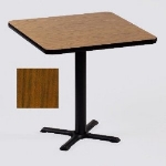 Correll BXT24S 06 24-in Square Bar Cafe Table w/ 1.25-in Pressure Top, 29-in H, Oak/Black