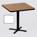 "Correll BXT36S 36 36"" Square Bar Cafe Table w/ 1.25"" Pressure Top, 29"" H, White/Black"
