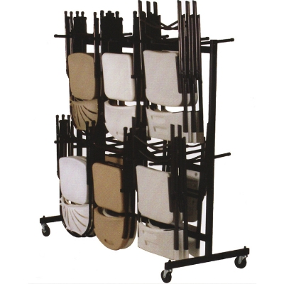 Correll C84 09 Hanging Truck For 60-84 Folding Chairs, Black