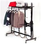 Correll C84-C 09 Hanging Truck For 60-84 Folding Chairs & Coats, Black