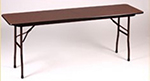 "Correll CF1848PX Folding Table w/ .75"" High-Pressure Top, 18x48"", Walnut"