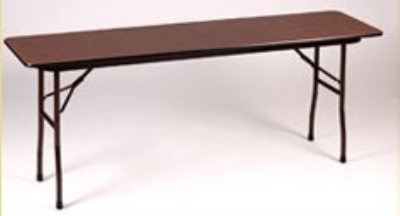 "Correll CF2460PX 01 Folding Table w/ .75"" High-Pressure Top, 24 x 60"", Walnut"