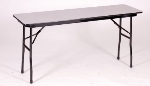 Correll CF1860M Folding Table w/ Walnut Melamine Top, 18x60""