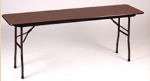 "Correll CF1896P Folding Table w/ 5/8"" Walnut High-Pressure Top, 18x96"""