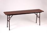 Correll CF1872M Folding Table w/ Walnut Melamine Top, 18x72""