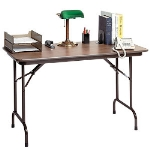 Correll CF2436MK 01 Keyboard Height Folding Table w/ Walnut Melamine Top, 24 x 36""