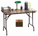 Correll CF2436MK 06 Keyboard Height Folding Table w/ Melamine Top, 24 x 36-in, Oak