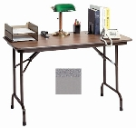 "Correll CF2436MK 15 Folding Table - Melamine Top, 24x36""  Granite Gray"