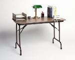 Correll CF2448M 01 Folding Table w/ Walnut Melamine Top, 24 x 48-in