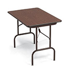 Correll CF2448MK 15 Keyboard Height Folding Table w/ Melamine Top, 24 x 48-in, Gray Granite