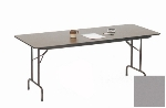 "Correll CF2472P 13 Folding Table w/ 5/8"" High-Pressure Top, 24 x 72"", Dove Gray"